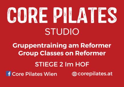The Signage of Core Pilates Studio in Neubaugasse Wien