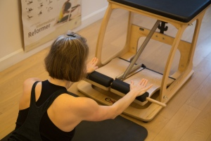 Swan Dive from Floor on Pilates Chair