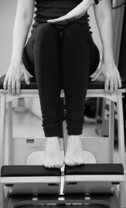 Knee ankle alignment during Footwork on Pilates Chair