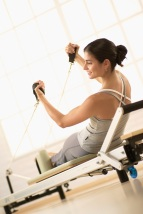 STOTT Pilates Reformer exercise