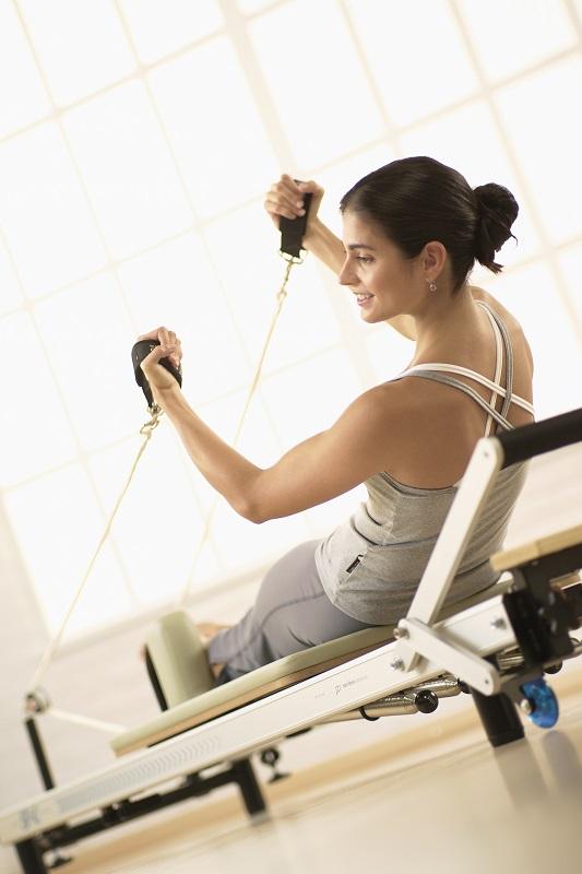 STOTT Pilates Reformer exercise
