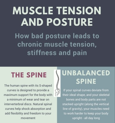 Posture and muscle tension infographic