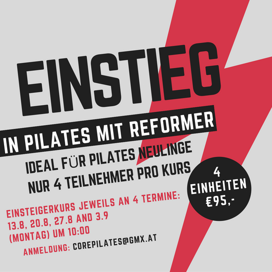 Einstieg in Pilates Reformer bei Core Pilates Wien Studio