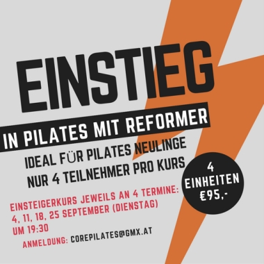Einstieg in Pilates Reformer Sept Kurs Core Pilates